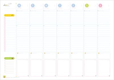 1週間のToDoを把握できて毎日の時間ごとのスケジュール管理も可能
