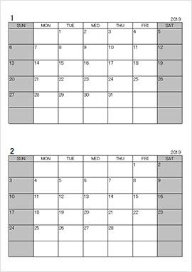 Excelist.comの万年カレンダー